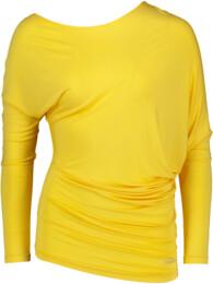 Žluté dámské tričko na jógu JOYFUL - NBSLF5596