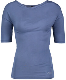 Modré dámské tričko na jógu EXULT - NBSLF5597