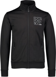 Men's black power fleece jacket SULTRY - NBSMS5614