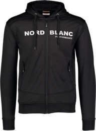 Men's black power fleece jacket AMITY - NBSMS5615