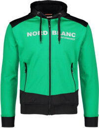 Men's green power fleece jacket AMITY - NBSMS5615