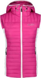 Ružová dámska zimná vesta CONNOTE - NBWJL5837