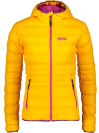Women's orange quilted jacket TREASURE - NBWJL5838