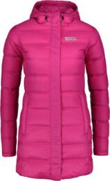 Růžový dámský zimní péřový kabát ENDURE