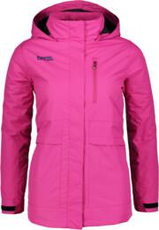 Růžový dámský zimní kabát ACCEPT - NBWJL5845