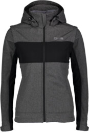 Women's grey softshell jacket with fleece jacket FAVOURITE - NBWSL5858