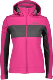 Růžová dámská zateplená softshellová bunda 2v1 FAVOURITE