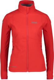 Červená dámská zateplená softshellová bunda SWEETIE