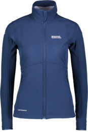 Women's blue softshell jacket with fleece jacket SWEETIE - NBWSL5859