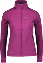 Women's purple softshell jacket with fleece jacket SWEETIE - NBWSL5859