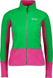 Hanorac din fleece verde pentru femei PECULIAR - NBWFL5882