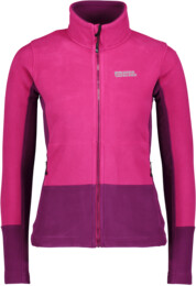 Women's pink double fleece jacket PECULIAR - NBWFL5882