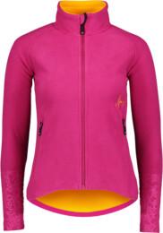 Women's pink double fleece jacket WITTY