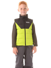 Zelená dětská zimní vesta AVID - NBWJK5910S