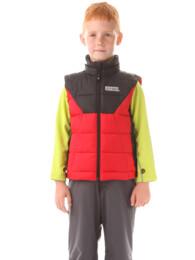 Červená dětská zimní vesta AVID - NBWJK5910S