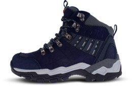 Modré dámské kožené outdoorové boty EARTH LADY - NBHC85