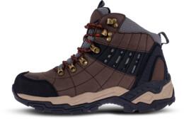 Hnědé pánské outdoorové kožené boty EARTH - NBHC86