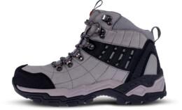 Pantofi gri din piele outdoor pentru bărbați EARTH - NBHC86