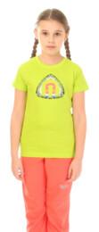 Zelené detské bavlnené tričko FATE