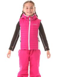 Ružová detská zimná vesta EDGE - NBWJK5911L