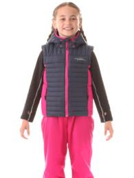 Modrá dětská zimní vesta EDGE - NBWJK5911S