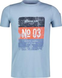 Modré detské bavlnené tričko VARNISH - NBSKT6825L