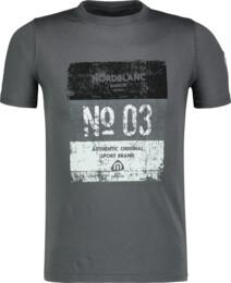 Šedé detské bavlnené tričko VARNISH - NBSKT6825L