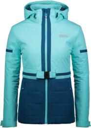 Modrá dámská zimní bunda ORNATE