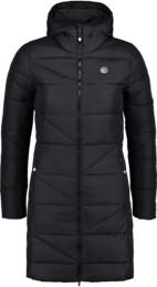 Černý dámský zimní kabát TINT