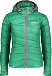 Zelená dámská péřová bunda GRITTY