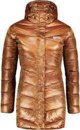 Béžový dámský péřový kabát SPELL - NBWJL6433