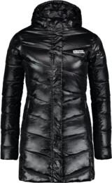 Černý dámský péřový kabát SPELL - NBWJL6433