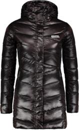 Hnědý dámský péřový kabát SPELL - NBWJL6433
