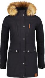 Černý dámský zimní kabát FLUFF