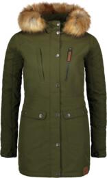 Khaki dámský zimní kabát FLUFF