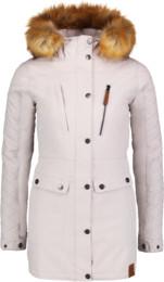 Šedý dámský zimní kabát FLUFF - NBWJL6434