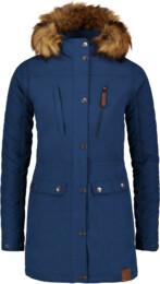 Modrý dámský zimní kabát FLUFF