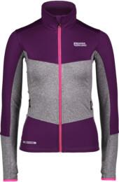 Women's purple power fleece jacket UNEQUAL - NBFLF6454