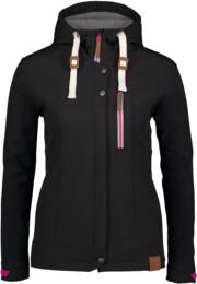 Černá dámská zateplená softshellová bunda PERKY