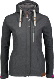 Women's grey softshell jacket with fleece jacket PERKY - NBWSL6460
