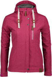 Ružová dámska zateplená softshellová bunda PERKY - NBWSL6460