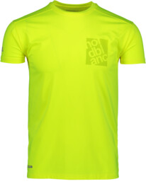 Men's yellow functional fitness t-shirt SQUARE