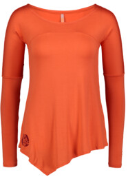 Narancssárga női póló jógára LAPPET - NBFLF6536