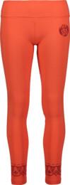 Oranžové dámské legíny na jógu BREECH - NBFPL6540