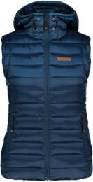 Modrá dámská zimní vesta SHEAR - NBWJL6589