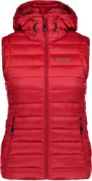 Červená dámska zimná vesta SHEAR - NBWJL6589