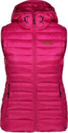 Růžová dámská zimní vesta SHEAR - NBWJL6589