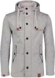 Šedý pánsky svetrový softshellový kabát STAID - NBWSM6597