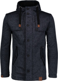 Kék férfi pulóveres softsheel kabát STAID