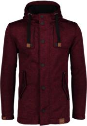 Vínový pánsky svetrový softshellový kabát STAID - NBWSM6597